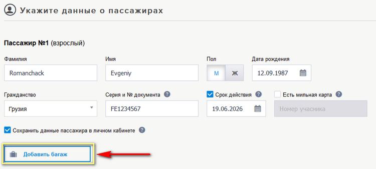 Как купить багаж на самолет если билет куплен стоимость билета на самолет гомель москва