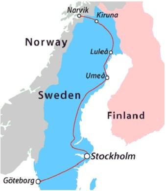 Scandinavian Rail Ticketsua - Sweden rail network map